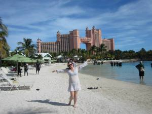 I could not afford most stores, but I did find this lovely swimsuit cover up, seen here in my pic in the Bahamas!!!!