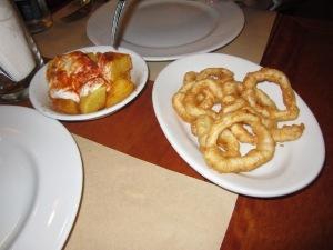 Tapas: Potatas Bravas and Fried Calamari