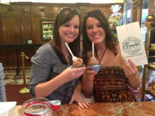 Enjoying gelato in moderation in Little Italy,NYC with my best friend Kelly