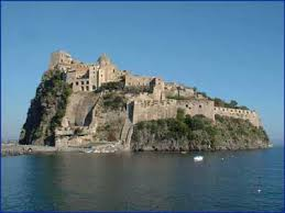 Here is the island of Ischia, do you see what I mean by roads are pretty much on a cliff!