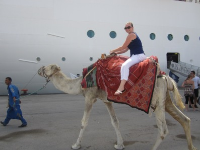 Tunis,Tunisia- On a MSC Medditeranean Cruise I went to Tunis. At the port I got to ride a camel!!!! An amazing experience and definitely something to cross off the bucket list!