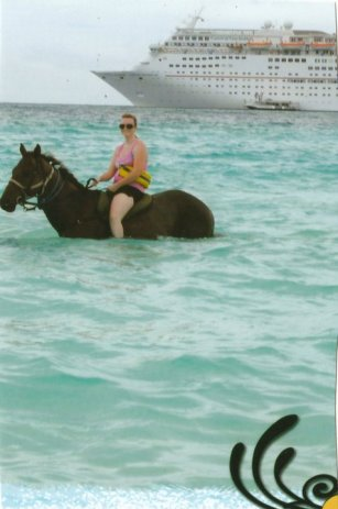Number 2- Half Moon Cay Bahamas; On a cruise to the Bahamas I got combing my love of riding horses and love of the ocean and ride on the beach and even have the ride the horse into the ocean as he swam! Most amazing experience ever!!!!