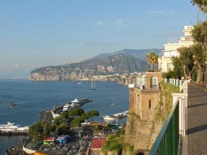 Number 1-Sorrento, Italy; Every trip to Italy my family and I take to see my papa's family we make sure to stop in Sorrento. Between the picturesque views, amazing shopping, and awesome gelato I couldn't pick a better place to visit.