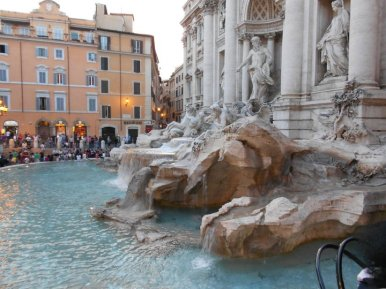 Fontana di Trevi in Rome Italy-I threw a coin in this fountain because there is a myth if you do so that you will have good luck and find love (I am still waiting for that haha)