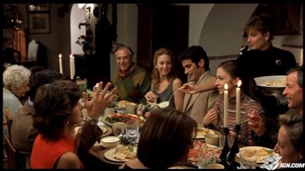 An Italian family at dinner time as shown in the movie Under the Tuscan Sun: Photo courtesy of www.ign.com