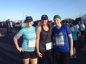 Me and the girls before our 10k