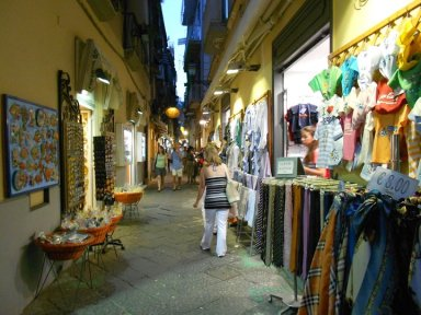 Walking down one of the cobblestoned alleys filled with little shops